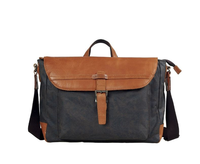 Classic Canvas Herren Schultertasche Messenger Bag Brown