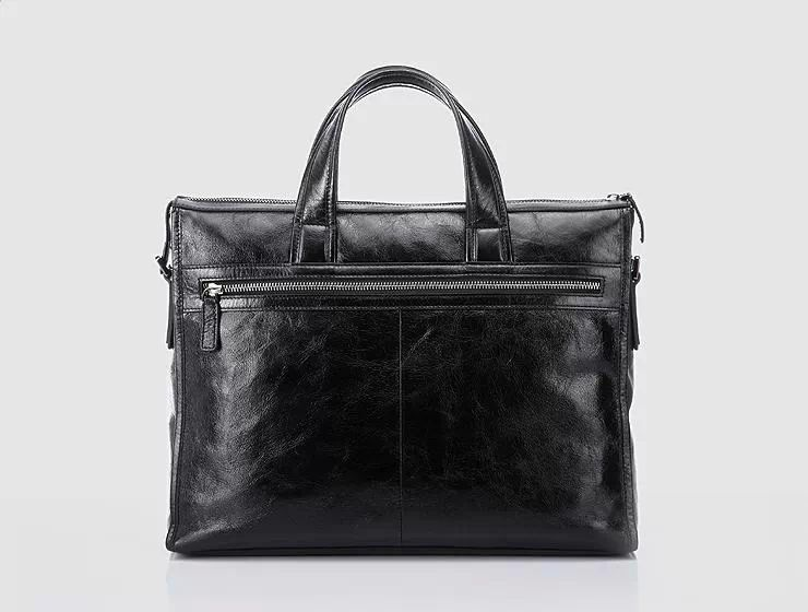Classic Leather Business Messenger Sac noir UHJXHKURPI