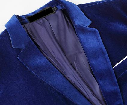 Pilaeo Royal Blue Velvet Blazer Pilaeo