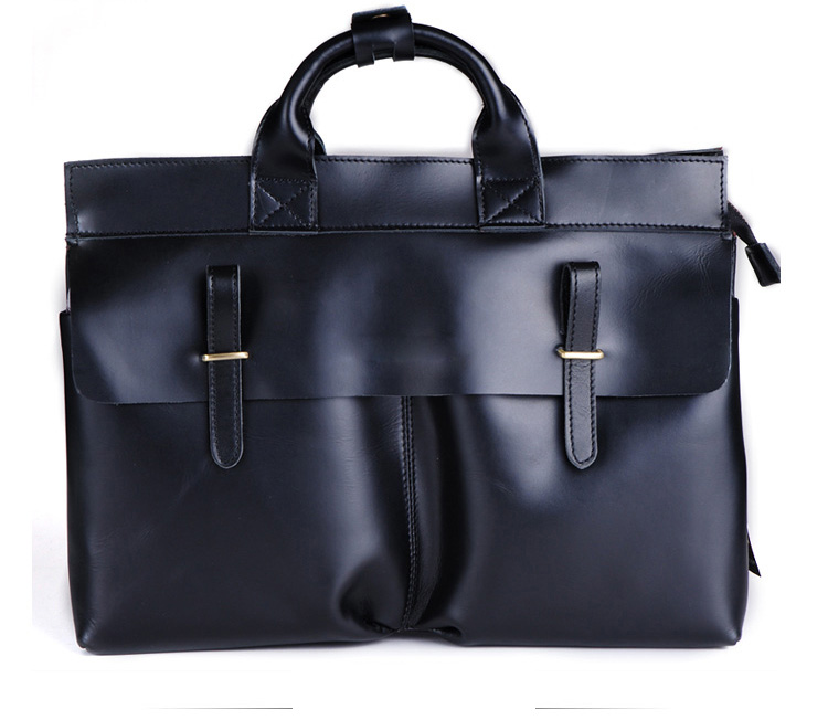 Exclusive Business Men Handmade Leather Shoulder Black Bag