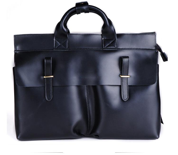 0a5095b2de Exclusive Business Men Handmade Leather Shoulder Black Bag