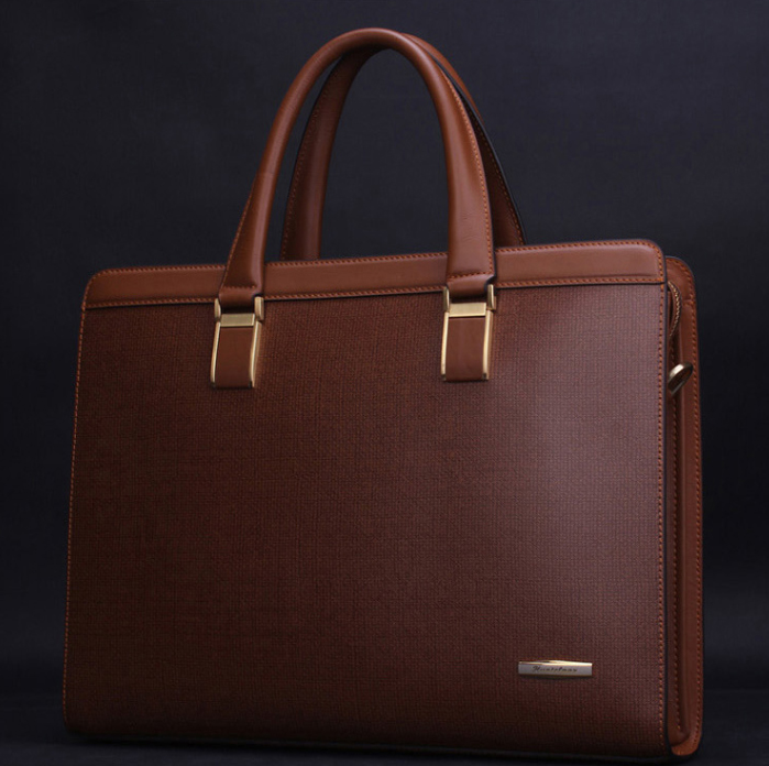 New Style Mens Business Casual Messenger Bag Brown DCG505Q9PI