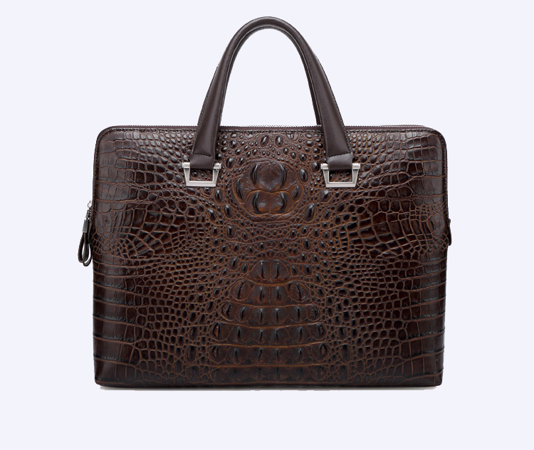 Mode Crocodile conception de serviette de cuir Ordinateur Brown