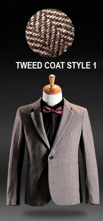 Feine Tailored Blazer Tweed-Mantel
