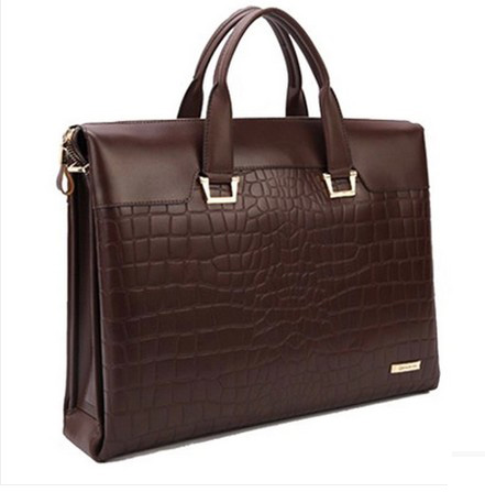 Gentleman echtes Krokodillederaktentasche Brown Bag
