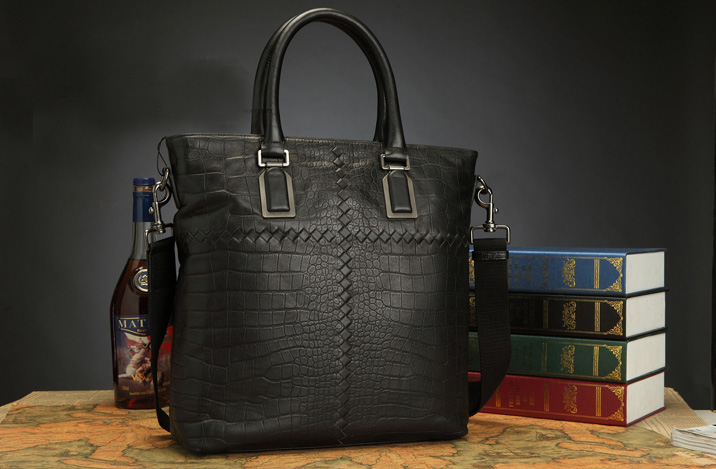 High-class Large Capacity Alligator Tote Cross Section Bag