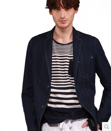 Casual Estilo Londres Denim Blazer Suit