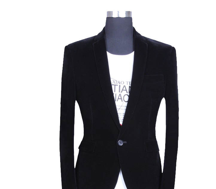 * Luxury Black Velvet Blazer