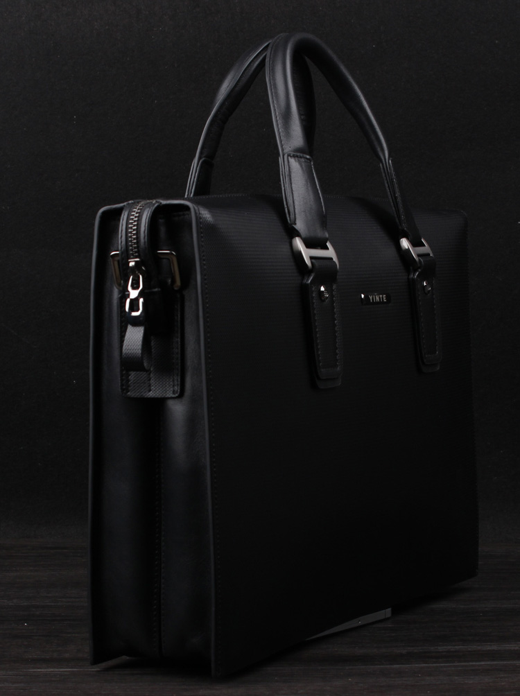Luxury High End Genuine Leather Black Checkered Bag B9pelpmupi