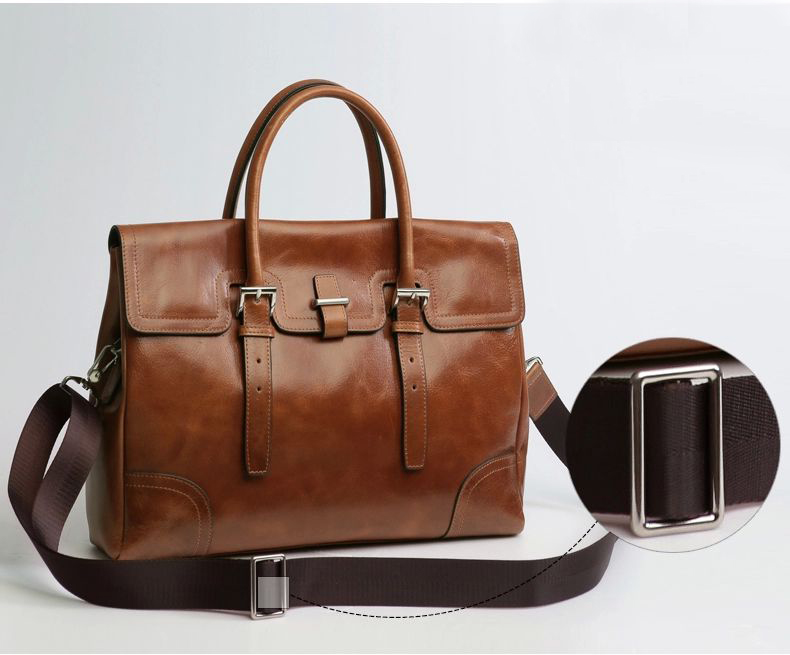 Mens Business Casual Leather Brown Shoulder Bag ZB14M4C8PI of High ...