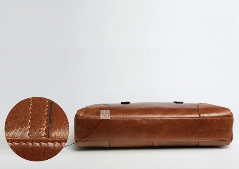 c15f1128bd Mens Business Casual Leather Brown Shoulder Bag ZB14M4C8PI  ZB14M4C8PI