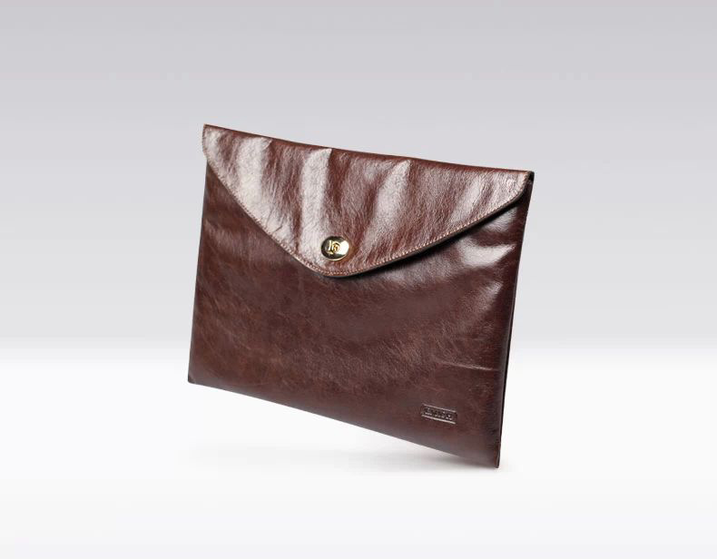 brown attache clutch envelope briefcase for men - Suggested from PILAEO Magazine Briefcase Guide