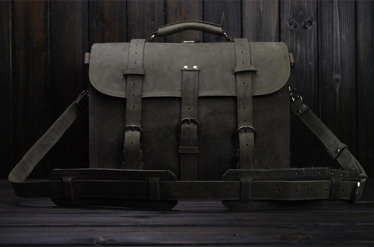 aa7b4b5dc4 Mens PILAEO HIGH END Style Business Shoulder Light Gray Bag 9YD2