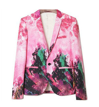 Art moderne Rose Trendy Creative Blazer