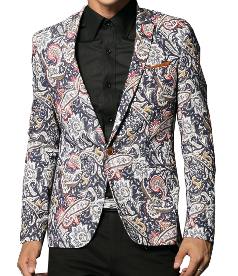 *** Mehrfarbenpaisley Stilvolle Single Button Blazer