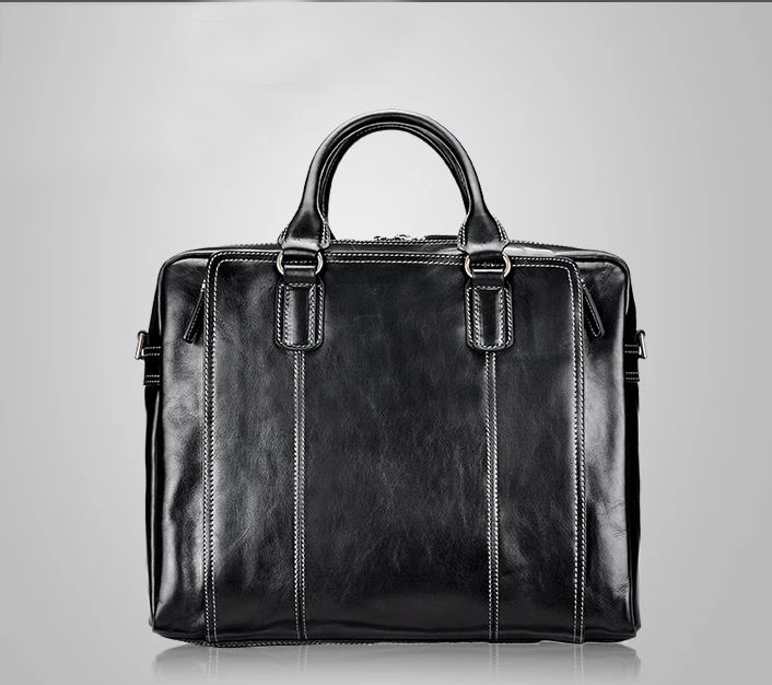 PILAEO 2014 Business Casual Black Leather Bag LJYDUPMUPI