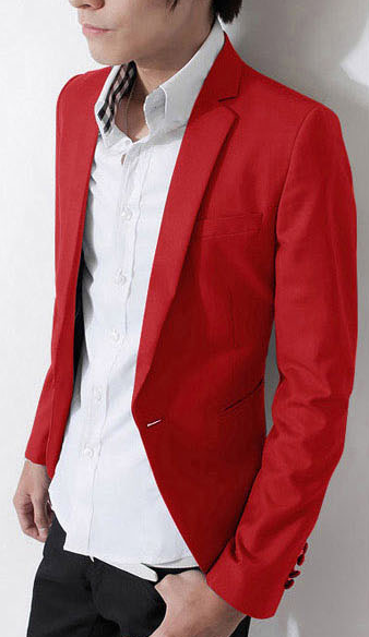 Stylish Mens Red Blazer