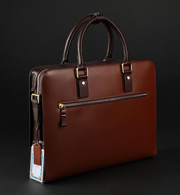 Pilaeo Elite Business Mens Leather Shoulder Red Brown Bag