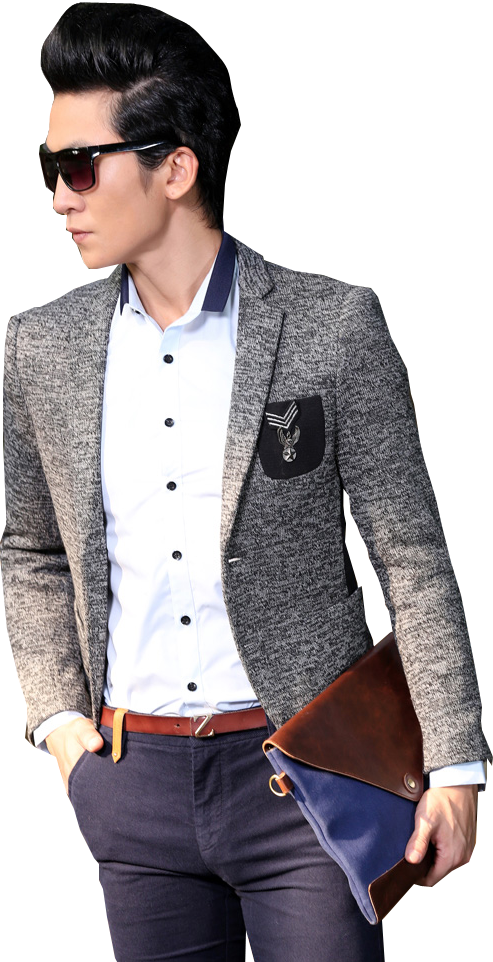 ***** High End Gentleman Mode Grauer Blazer