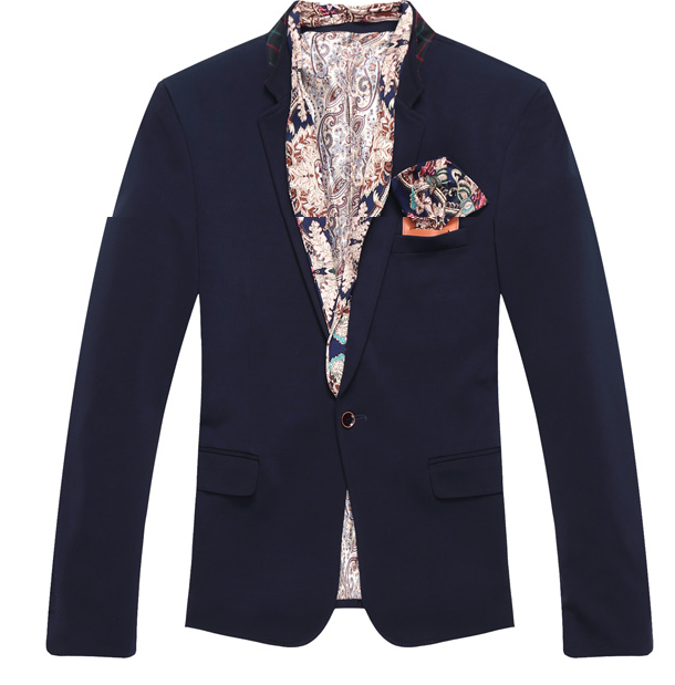 *** High End Paisley Trim Mens Blazer