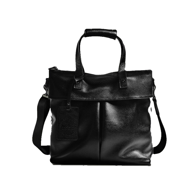 Cuir Premium Business Briefcase Black Cross Section Sac