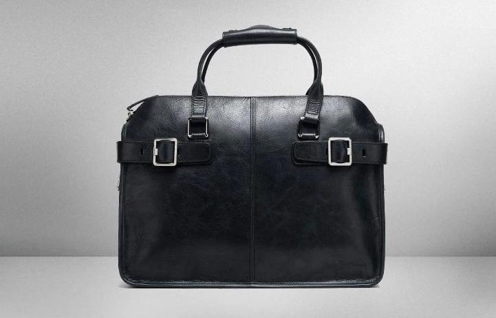 42dce713af PILAEO FASHION Black Leather Mens Portable Messenger Bag X8BD7OZ