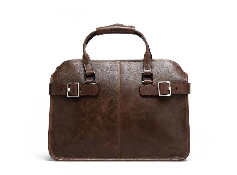 8b1e58bc57 PILAEO FASHION Brown Leather Mens Portable Messenger Bag I68M59I