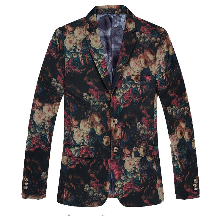 Surreale Kunst Blumen Multicolor Stilvolle Blazer