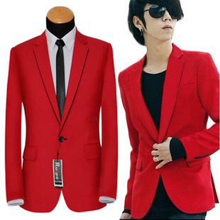 Well Tailored Mens Red Blazer at PILAEO